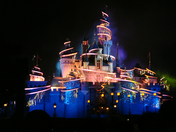 點燈結束的睡公主城堡.JPG