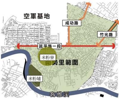 米粉寮地圖
