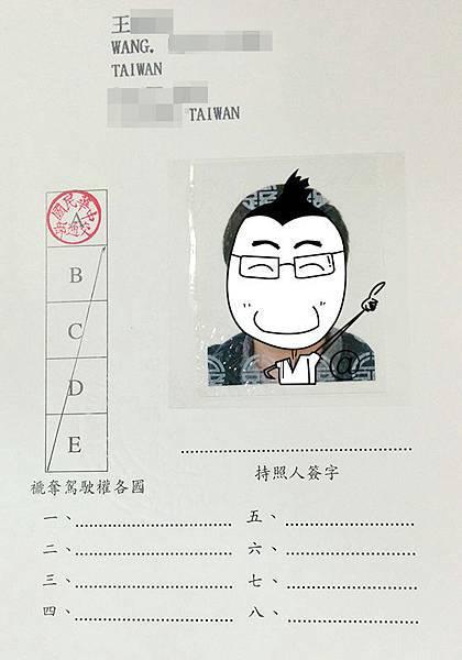 國際駕照資料頁