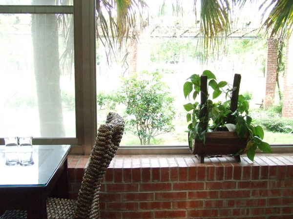餐廳裡的小盆栽擺飾也都很可愛