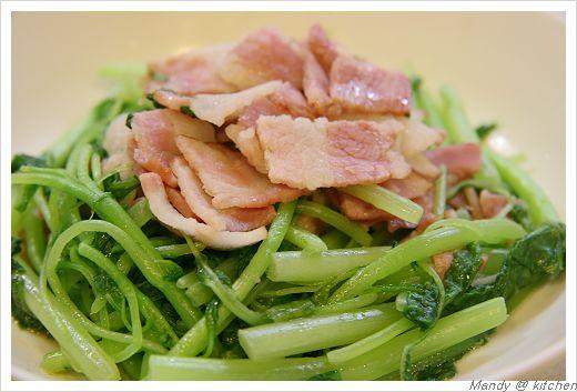 豬肉片炒莧菜