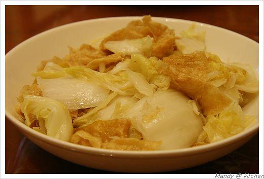 包心菜炒豆皮