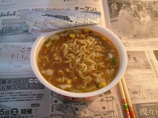湯頭味道濃厚,麵條也很Q耶