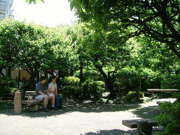 在花園內談心的情侶(還夫妻)呢?感覺就是很幸福~