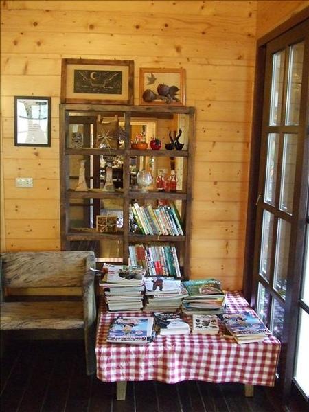 和室一角的閱讀區