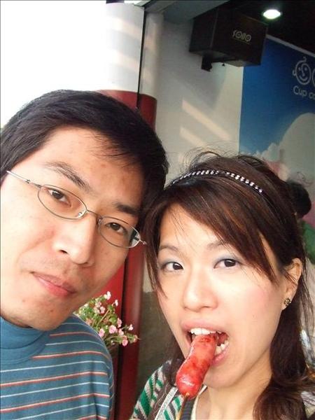 吃了很多加入草莓的食物。草莓香腸