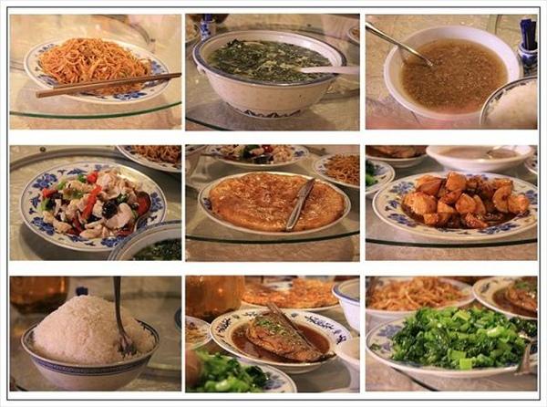 上海飯店的豐富中餐