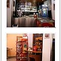 吧台,旁邊有賣當地零食的櫃子