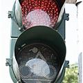 高雄自行車道的小綠人紅綠燈