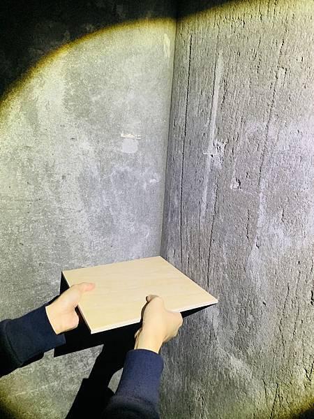 泥作驗收-量角度(浴室打底面)