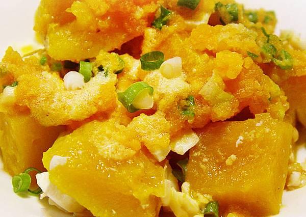 鹹蛋炒南瓜(金沙南瓜)