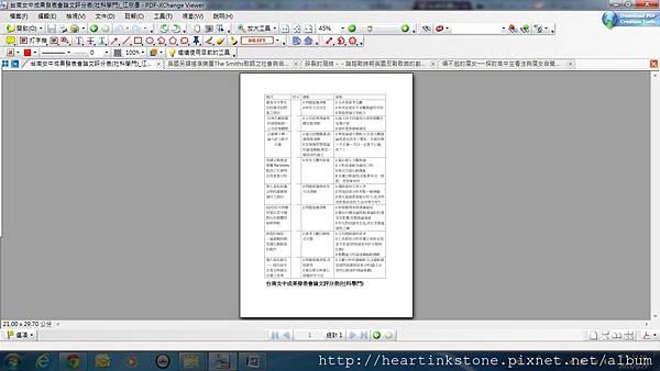 台南女中成果發表會論文評分表