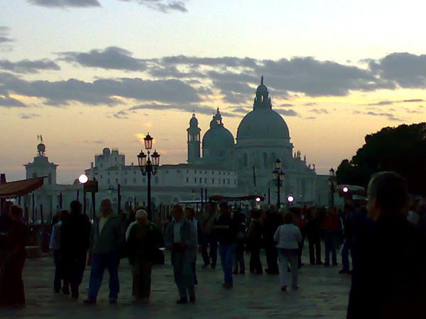 夕陽下的聖馬可廣場
