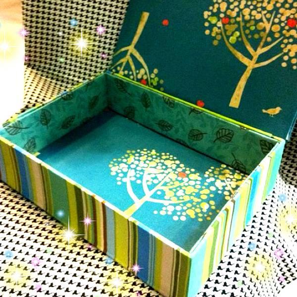 優雅明亮布盒子