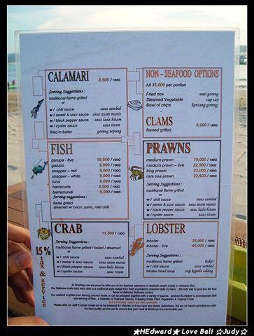 晚餐來到金巴蘭吃海鮮