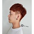 韓系可愛男孩+淺橘棕色