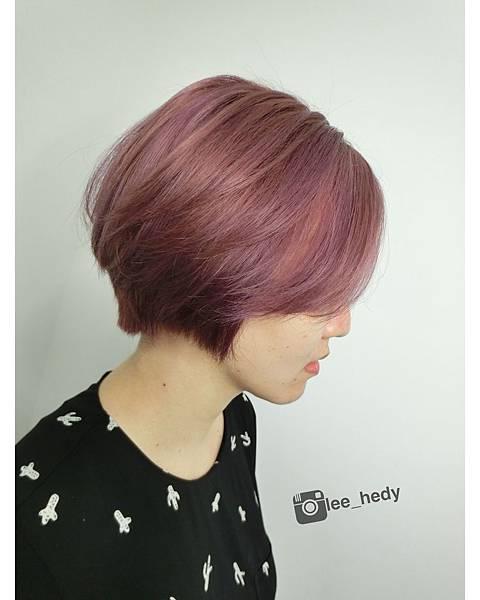 color:粉粉紫紅色