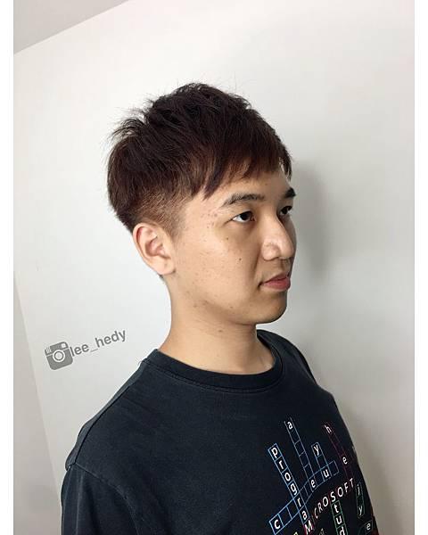 男生剪髮+經典棕色