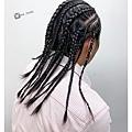 編髮造型~黑人頭