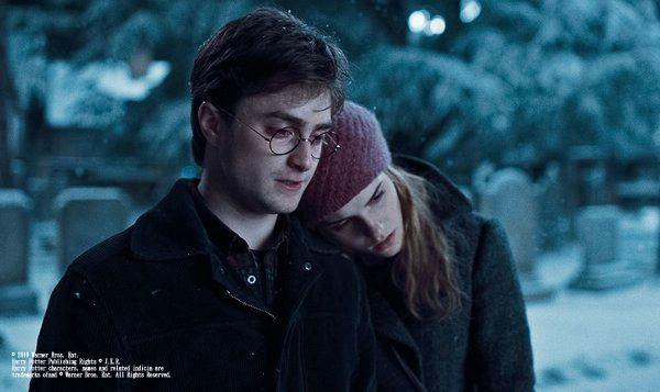 哈利與妙麗令人感動的一幕
