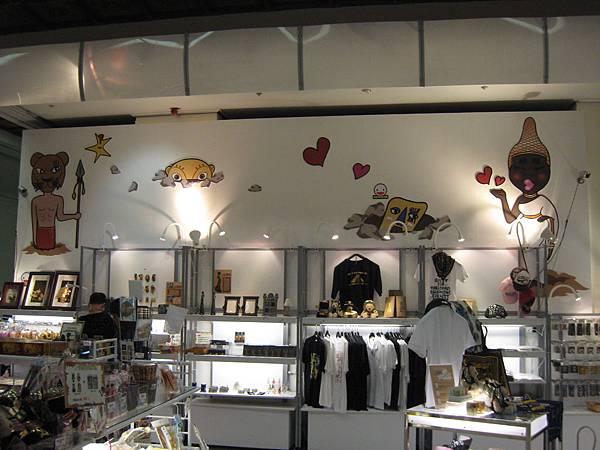 帝國寶藏展的紀念品販售區