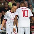 8/21歐冠資格賽PSV1:1AC米蘭  進球沙拉維霸氣慶祝