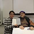 我的簽名書與卜洛克老師感動紀念合影!