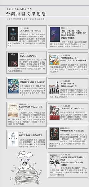 協會會訊台灣推理文學作品出版表