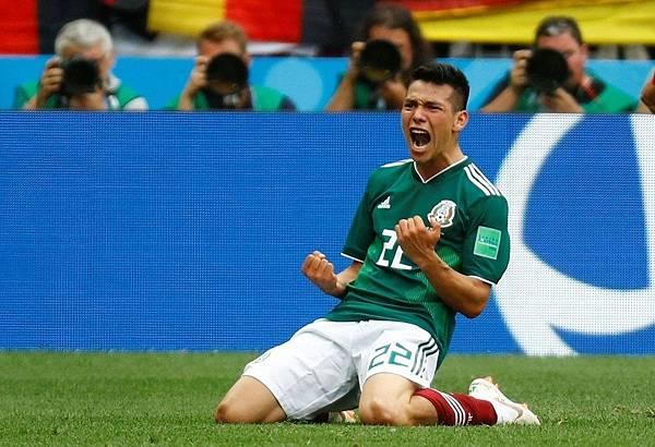 2018年世界盃小組賽第一輪德國0:1墨西哥:有「墨西哥C羅」之稱的重點新星洛薩諾(Hirving Lozano),在進球之前早有多起攻勢,突顯德國的防守漏洞。