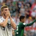 2018年世界盃小組賽第一輪德國0:1墨西哥:德國隊維爾納(Timo Werner)近況低迷,對這場比賽的表現不敢置信。