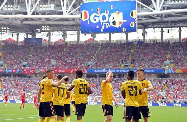 2018年世界盃小組賽第二輪比利時5:2突尼西亞:Goal!就是比利時這場的最佳代名詞,全場狂進5球輕鬆大勝突尼西亞。