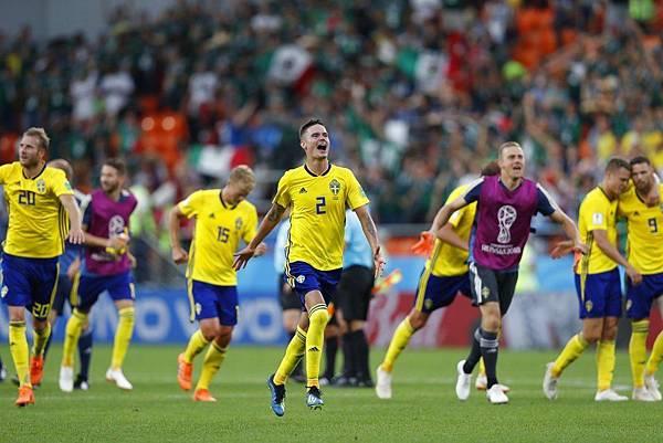 2018年世界盃小組賽第三輪墨西哥0:3瑞典:瑞典以3:0獲勝,分組積分6分,以淨勝球躍上分組第一,隊史第4度從分組賽出線。