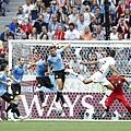 2018世界盃8強淘汰賽法國2:0烏拉圭:法國中後衛瓦拉內頭錘破門