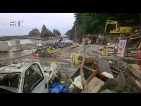 《小海女》中觀眾所熟悉的海景,在災後一片狼藉的慘狀.jpg