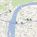 Praha Day1 - 步行路線
