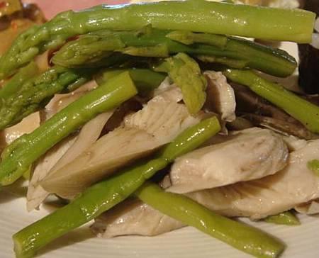 蘆筍涼拌菇