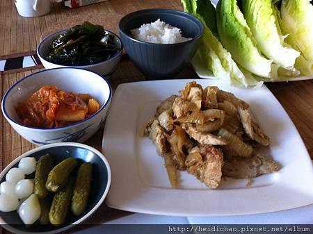 韓國風味烤雞肉