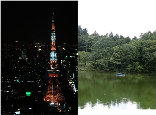 東京-都市VS郊區對照圖