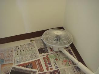天花板批土後吹乾.JPG