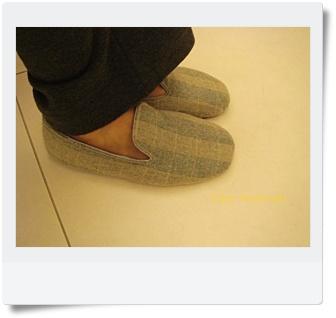 02毛呢淺綠格子室內鞋2.JPG