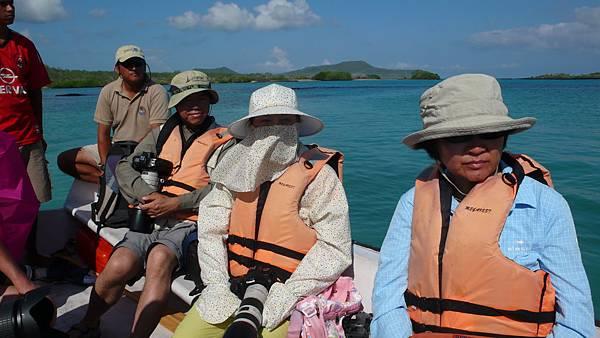 加拉巴哥群島 搭小船登島