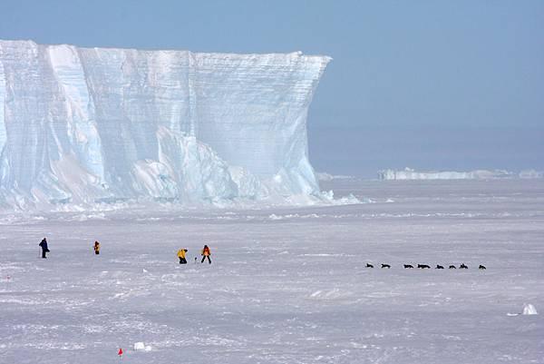 南極的冰雪世界