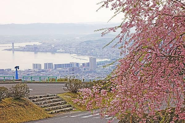 比叡山眺望琵琶湖