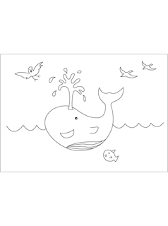 summer-coloring-pages-whale