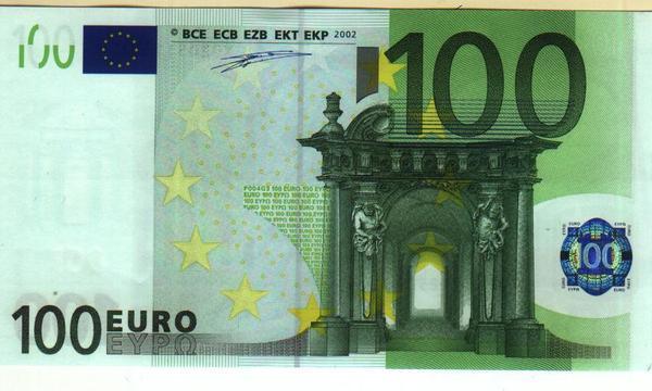 歐元100元