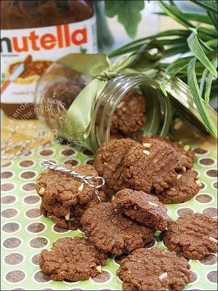 超簡易的臻果醬巧克力餅乾