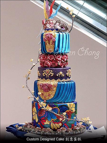 豪華化裝舞會結婚蛋糕