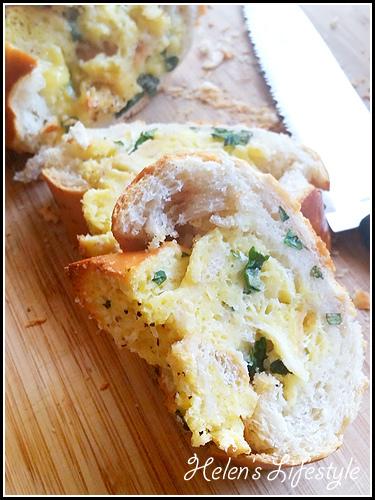 Lemon and Basil Eggs Franch Bread