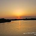 多摩川上夕陽