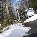 山下開楓葉,山上已下雪
